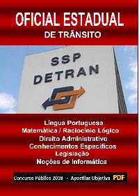 Concurso OFICIAL DE TRÂNSITO - DETRAN/SP - 2019 - Apostila (PDF)   - Apostilas Objetiva