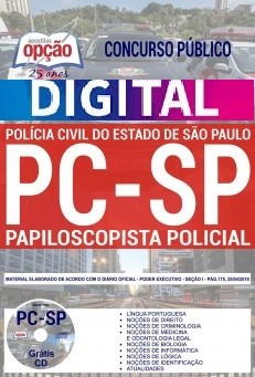 Apostila Concurso PAPILOSCOPISTA POLÍCIA CIVIL - SP - VERSÃO DIGITAL  - Apostilas Objetiva