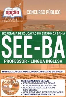 Apostila Concurso SEE - BA - Professor - Lingua Inglesa ( Editora Opção )  - Apostilas Objetiva