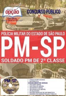 APOSTILA CONCURSO SOLDADO DA PM São Paulo - Concurso – 2017 - (EDITORA OPÇÃO)  - Apostilas Objetiva