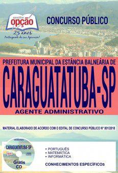 CARAGUATATUBA - SP - PREFEITURA MUNICIPAL-1.8 - Diversos Cargos  - Apostilas Objetiva