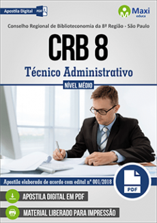 CRB 8 - Concurso Conselho Regional de Biblioteconomia 8ª Região - São Paulo - VERSÃO DIGITAL  - Apostilas Objetiva