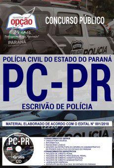 ESCRIVÃO de Polícia - PC - PARANÁ - Apostila Completa IMPRESSA-1.8  - Apostilas Objetiva