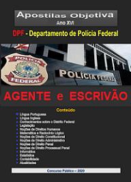 ESCRIVÃO  e AGENTE da POLICIA FEDERAL- Apostila- em PDF-Matérias COMUNS-2021  - Apostilas Objetiva