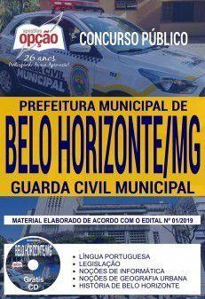 GUARDA MUNICIPAL- BELO HORIZONTE - Concurso 2019-1.9   - Apostilas Objetiva