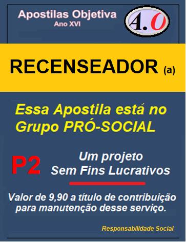 IBGE - Recenseador - Apostila Completa em PDF - 2021  - Apostilas Objetiva