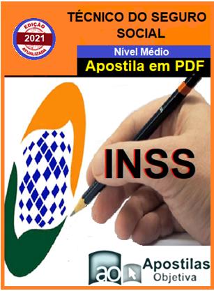 INSS -Técnico do Seguro Social-Apostila (em PDF)-Concurso - 2021  - Apostilas Objetiva