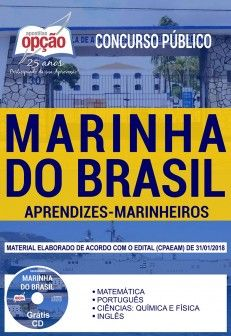 MARINHEIRO APRENDIZ-Apostila Completa-Marinha do Brasil-ref.1.8  - Apostilas Objetiva