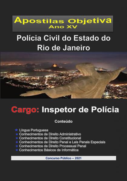 Polícia Civil-RIO JANEIRO-INSPETOR-Apostila em PDF-completa-2021  - Apostilas Objetiva