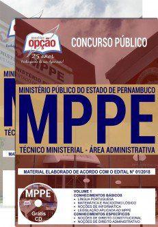 TÉCNICO MINISTERIAL - ÁREA ADMINISTRATIVA - MP- Pernambuco-1.8  - Apostilas Objetiva