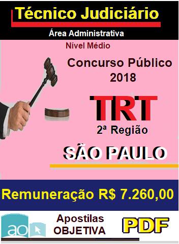 Apostila (PDF)-TRT - 2ª Região-SÃO PAULO - Técnico Jud. Administrativo-Concurso-1.8  - Apostilas Objetiva
