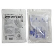 Bolsa coletora de urina 2 litros completa  Descarpack