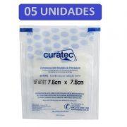 Compressa de Emulsão de Petrolatum Curatec 7,6cmX7,6cm- Kit c/05 unidades