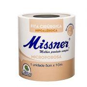 Fita microporosa bege 5 cm x 10 m- 12 unidades- Missner
