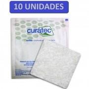 Curativo Alginato de Cálcio e Sódio Curatec 10X10 - Kit c/10 Unidades