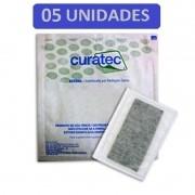 Curativo Carvão Ativado com Prata Curatec 10X20 - Kit c/05 Unidades