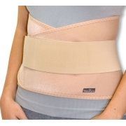 Cinta lombar e abdominal com hastes flexível - Bege