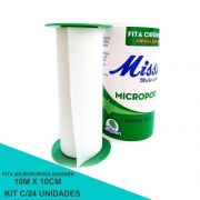 Fita Microporosa 10 cm x 10 m - Missner 24 unidades