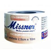 Fita microporosa 2,5 cm x 10 m Bege- 12 unidades- Missner
