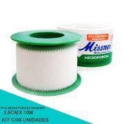Fita microporosa 2,5 cm x 10 m - Missner 06 unidades