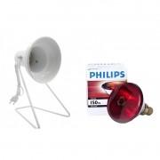 Lâmpada de Infravermelho Philips com Suporte de Mesa 220v