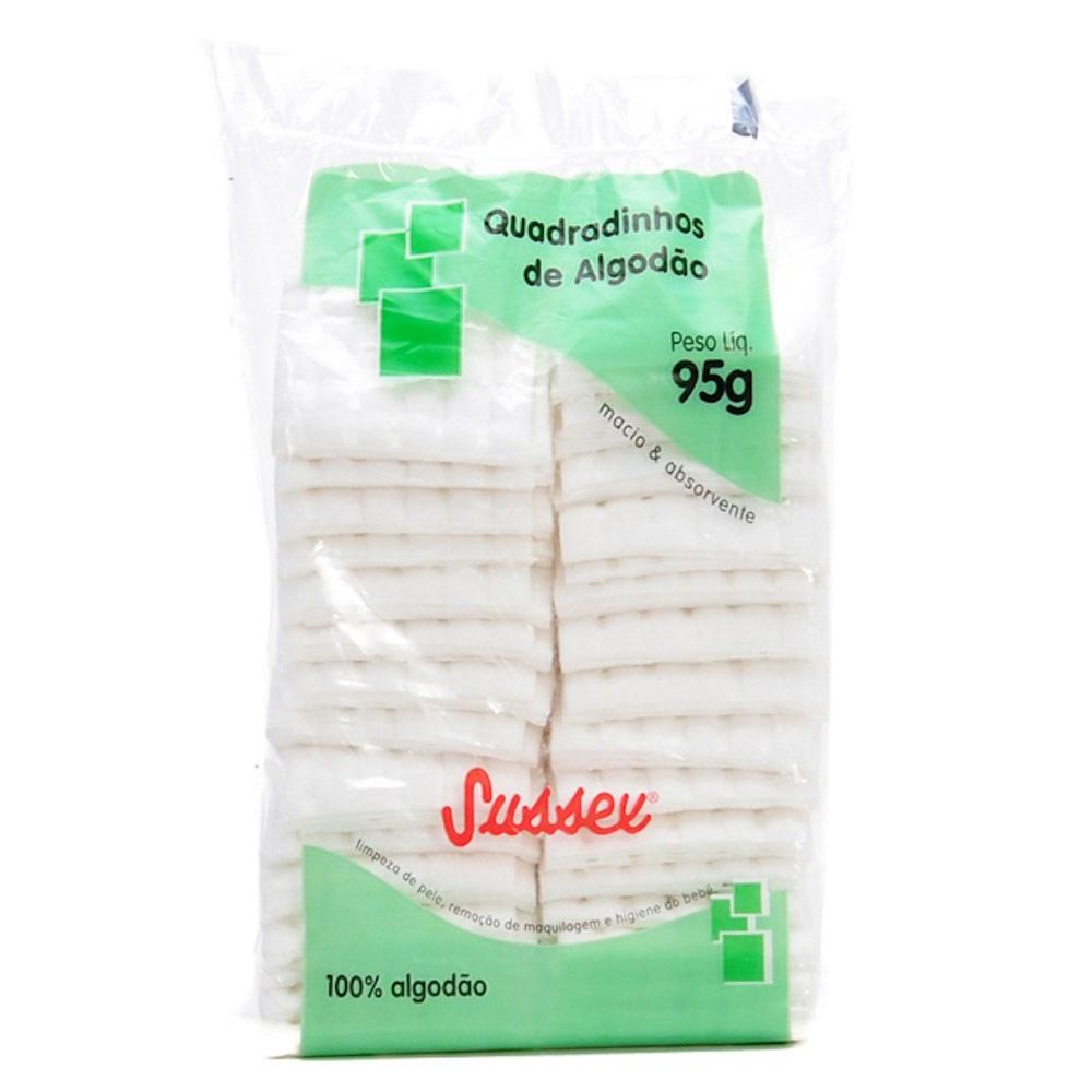 Algodão Hidrófilo Quadradinho 95g- Sussex