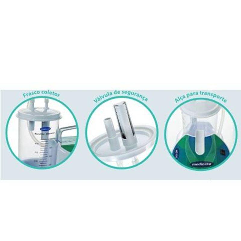 Aspirador cirúrgico de sangue e saliva Medicate