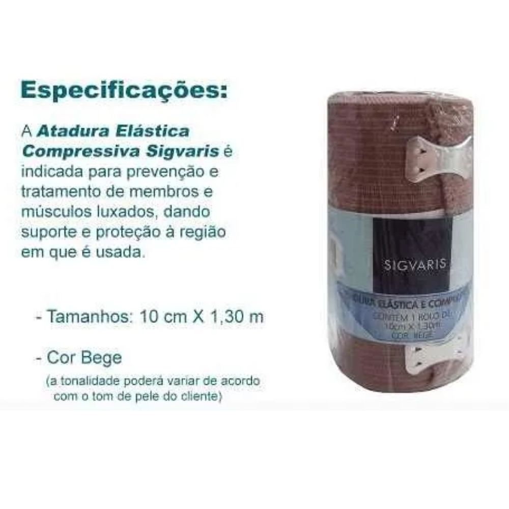 Atadura Elástica Compressiva Sigvaris 10cmX1,30m