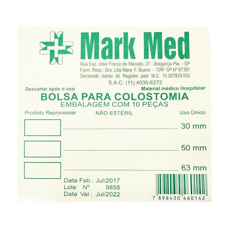 Bolsa para colostomia - 63mm / 10 unidades - Mark Med (não estéril)