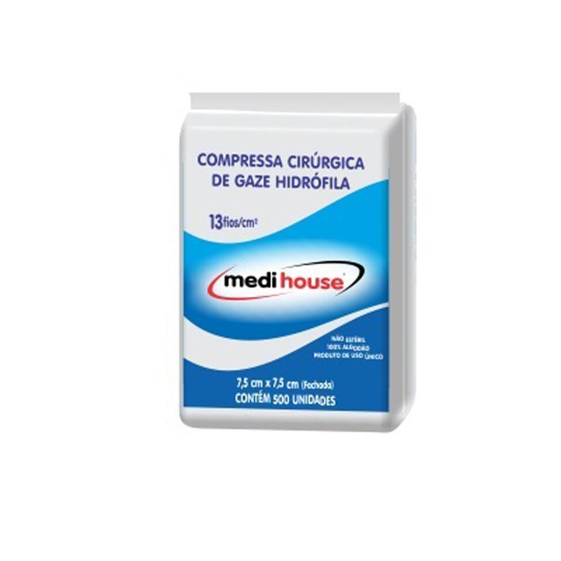 Compressa Cirúrgica de Gaze 13 fios Não Estéril- Medi House