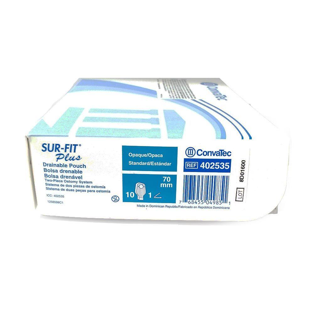 Convatec Bolsa de Colostomia Sur-Fit Plus Drenável 57mm- c/10 und