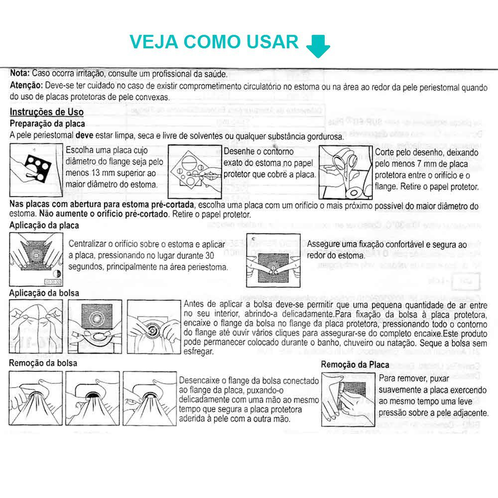 Convatec Placa e Bolsa de Colostomia Sur-Fit Plus 70mm
