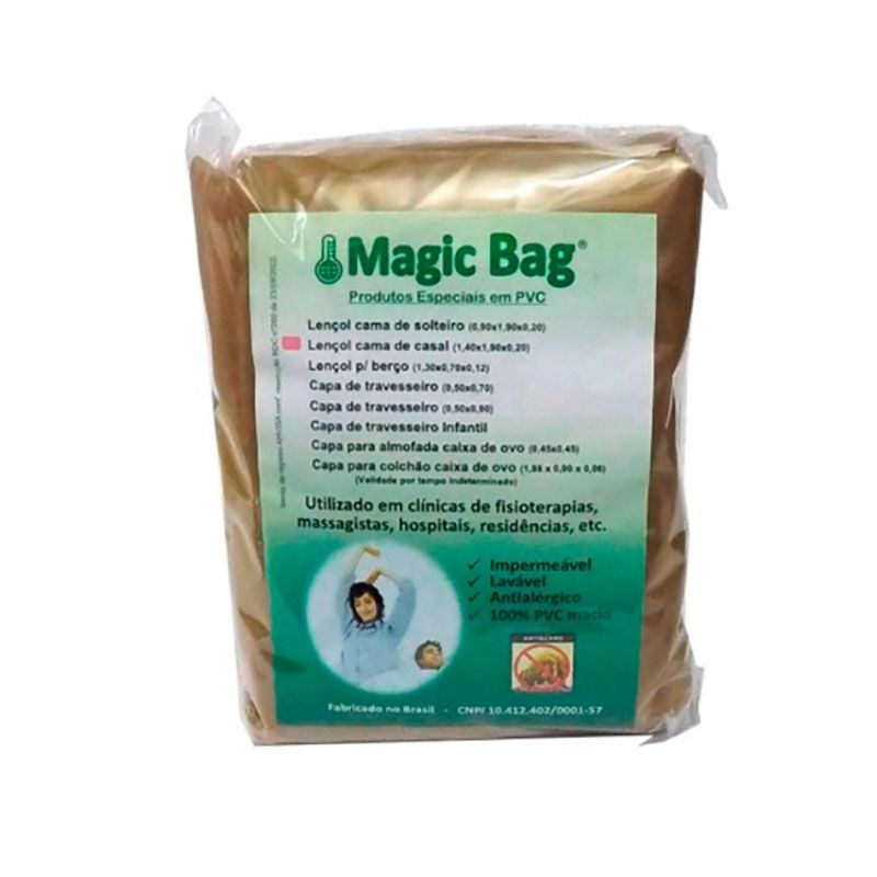 Lençol solteiro impermeável bege - Magic Bag