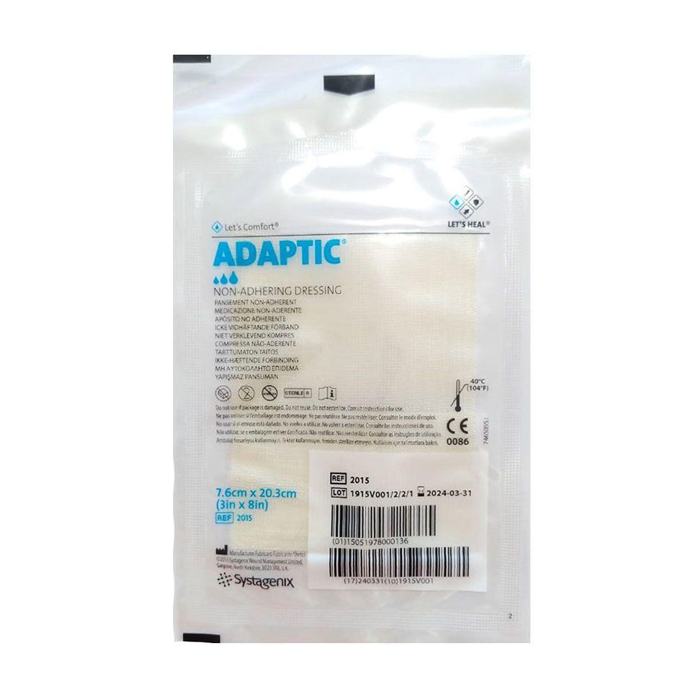 Curativo Adaptic Malha não Aderente Systagenix 7,6cmX20,3cm- Kit c/24 Unidades