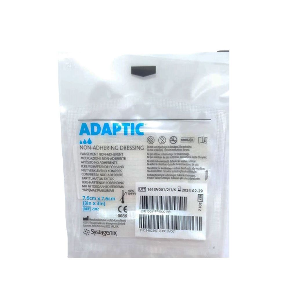 Curativo Adaptic Malha não Aderente Systagenix 7,6cmX7,6cm- KIt c/24 Unidades