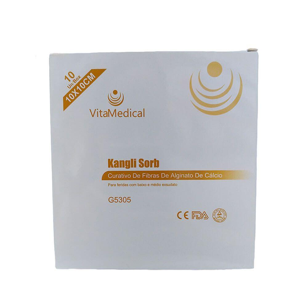 Curativo de Alginato de Cálcio Kangli Sorb VitaMedical c/10 Unidades