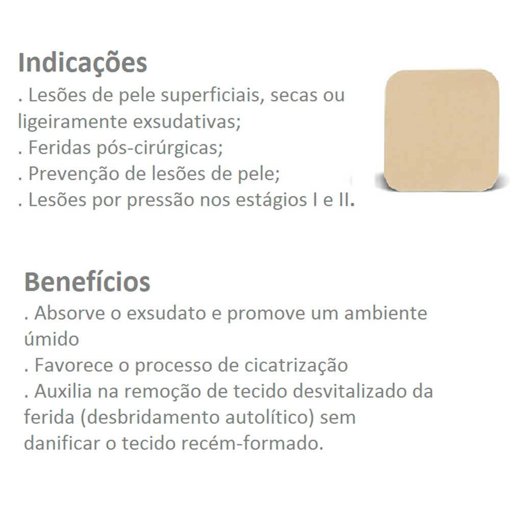 Curativo Duoderm Extra Fino Convatec 10x10- Kit c/05 unidades