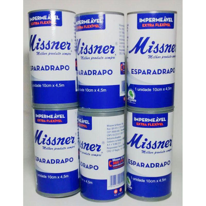 Esparadrapo 10 cm x 4,5 m - Missner / 06 unidades