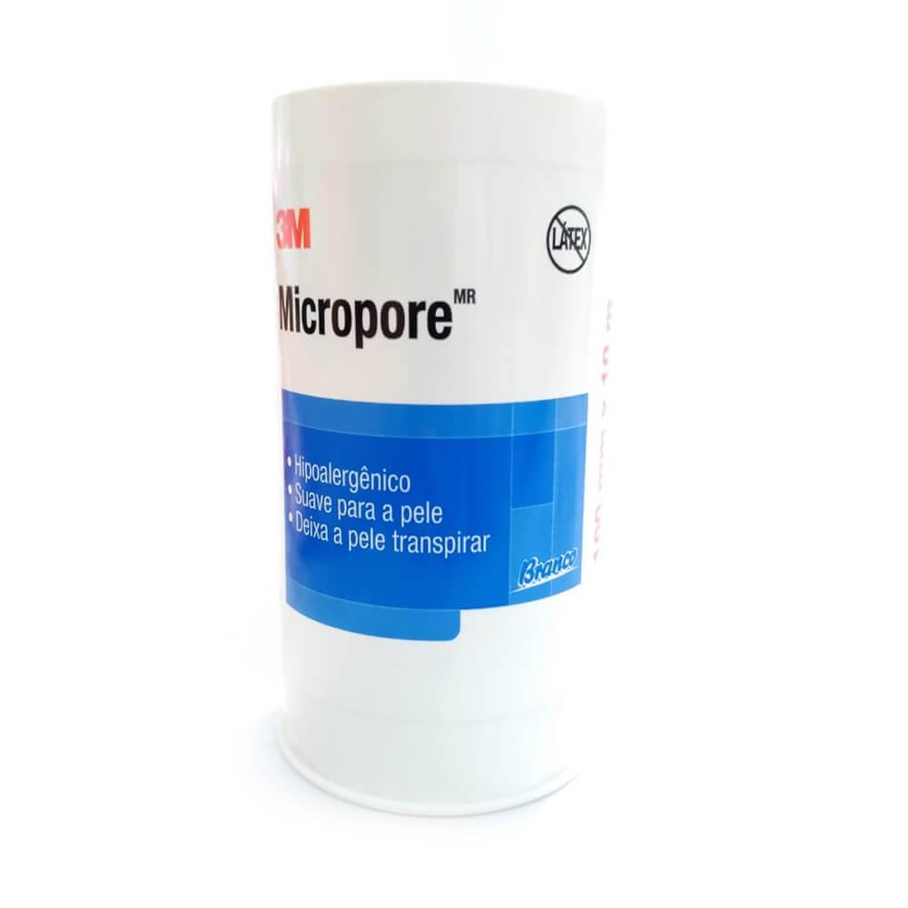 Fita Adesiva Micropore 3M 100mmX10m Branco- 06 unidades