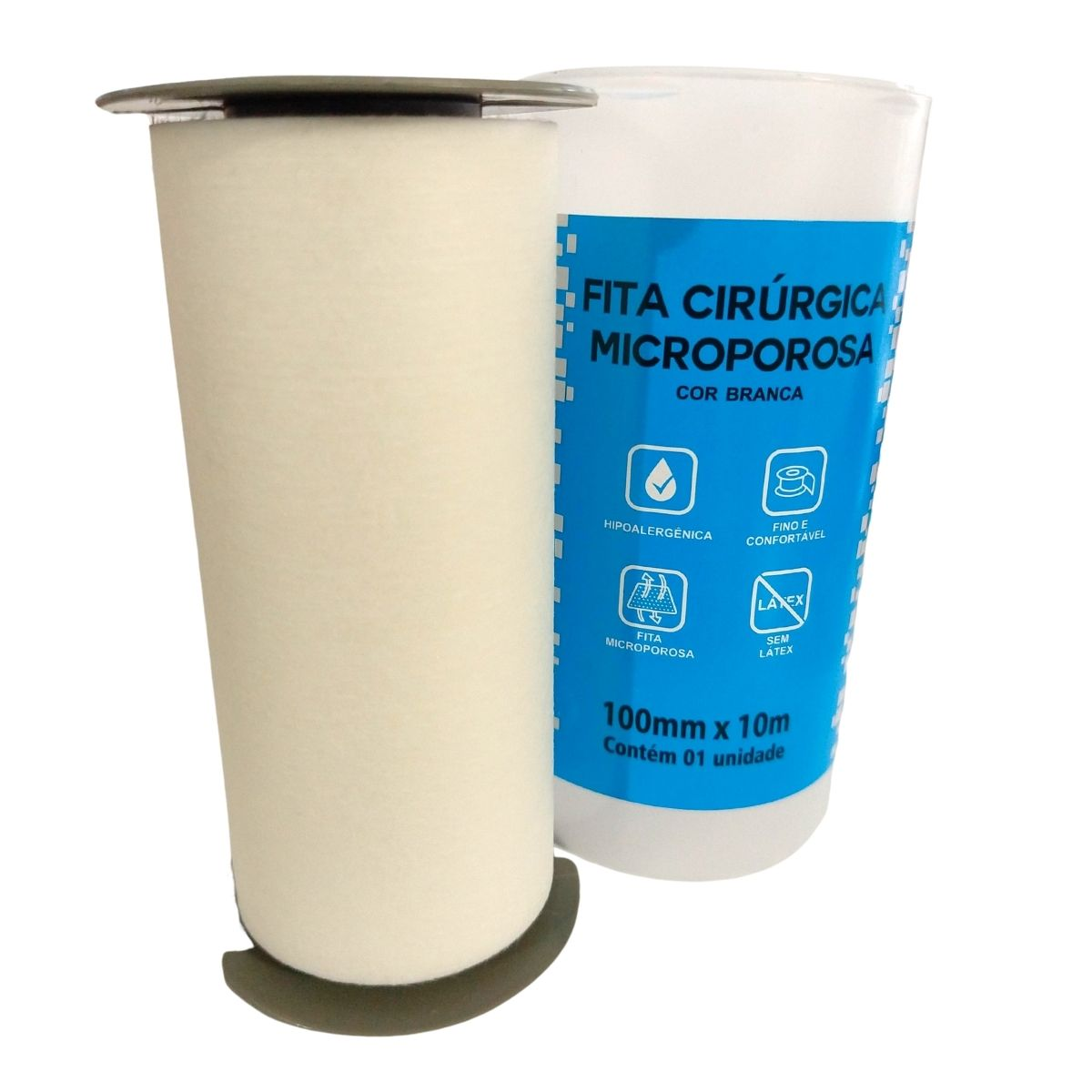 Fita Cirúrgica Microporosa Branca 10mmX10m Ciex- 06 Unidades