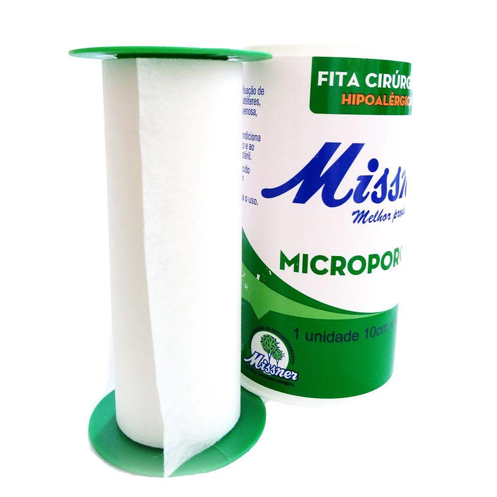 Fita microporosa 10 cm x 10 m - Missner 12 unidades