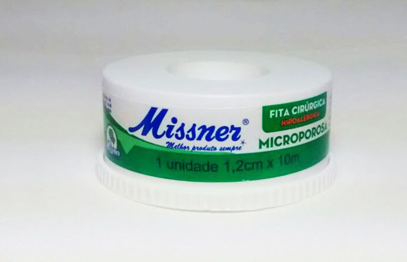 Fita Microporosa 1,2 cm x 10 m - Missner / 12 unidades