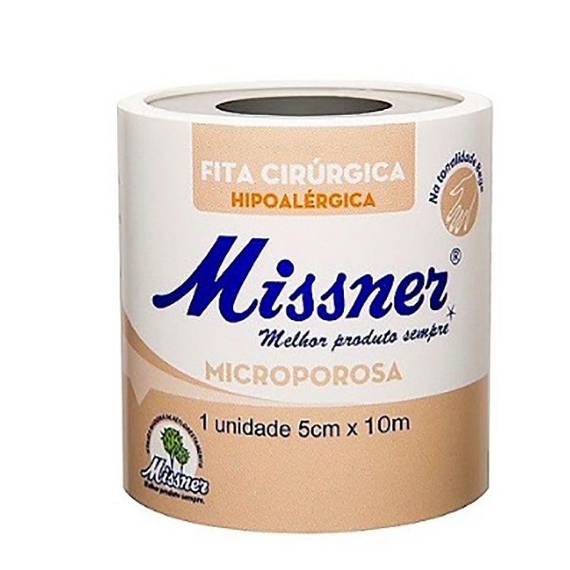Fita Microporosa 5 cm x 10 m Bege- 06 unidades- Missner