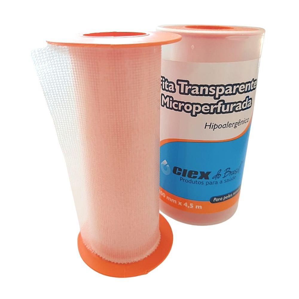 Fita Transparente Microperfurada Hipoalergênica 10cmX4,5m Ciex
