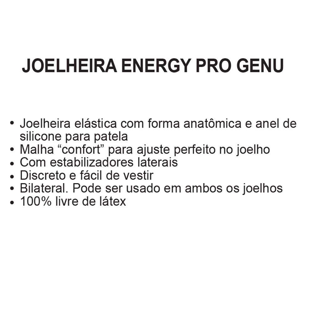 Joelheira Elástica Energy Genu Pro