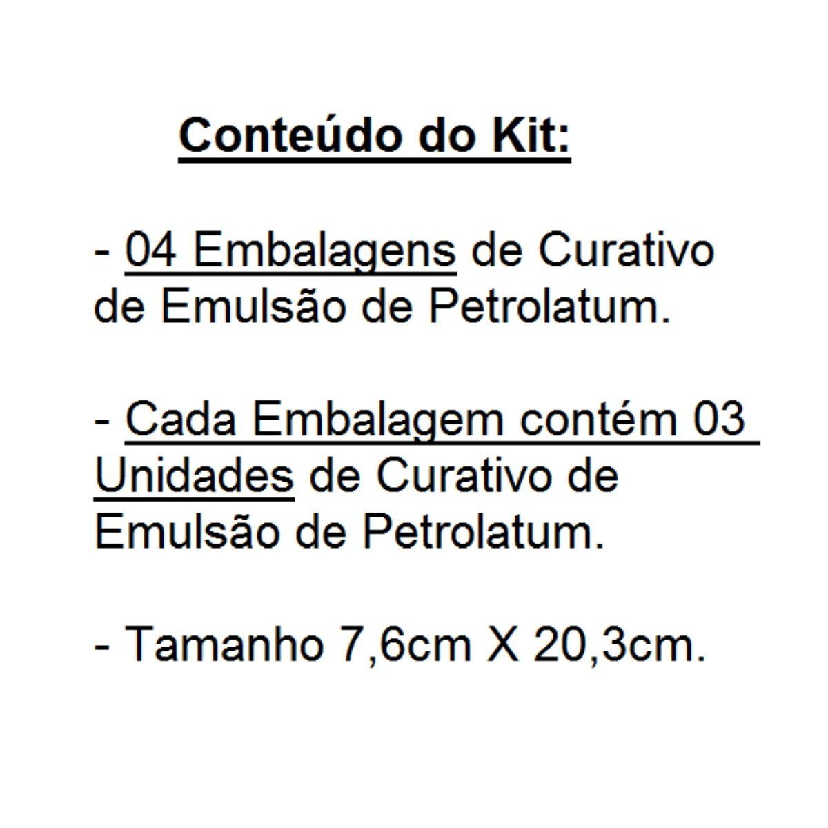 Kit 04 Envelopes de Emulsão de Petrolatum Curatec 7,6X20,3 c/03 Unds Cada