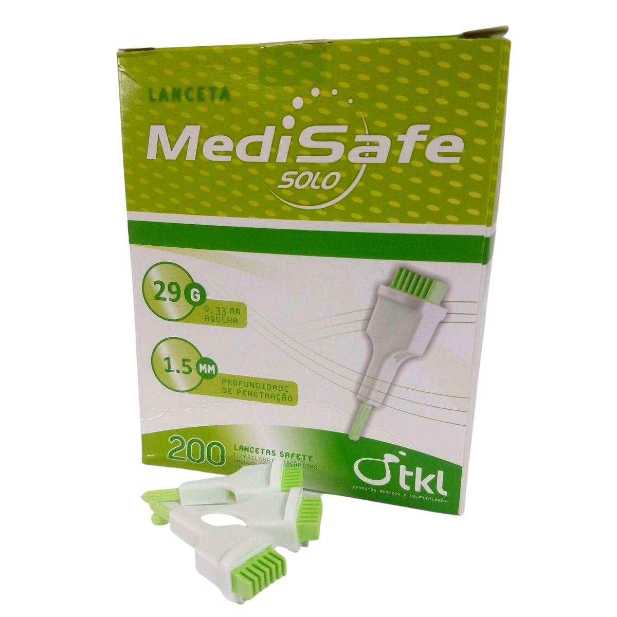 Lanceta de Segurança 29G 0,33X1,5mm Medisafe TKL c/200 Unidades