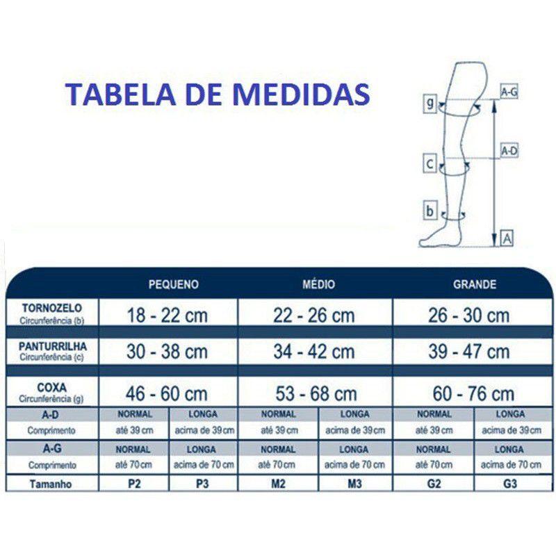 Meia Calça de Compressão Sigvaris Basic 30-40mmHg Cor Bege