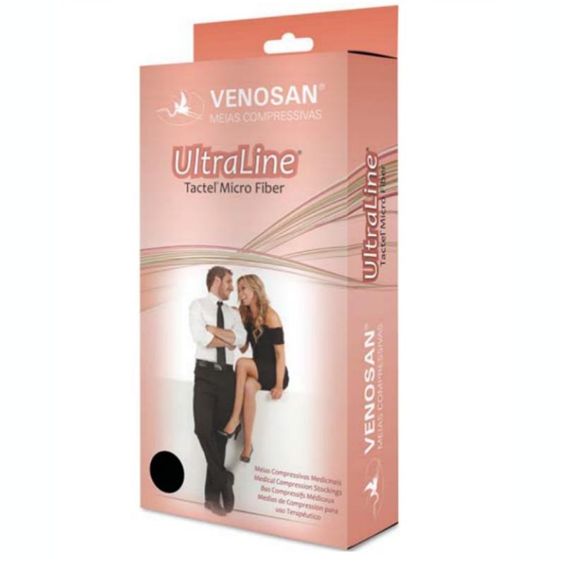 Meia Calça de Compressão Venosan Ultraline 20-30mmhg Cor Bege