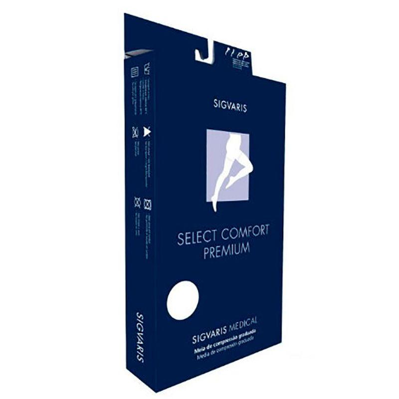 Meia Calça Sigvaris Select Comfort Premium 30-40mmHg Cor Natural Escuro